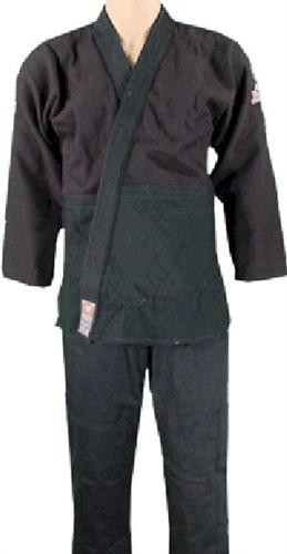 Atama Single Weave Black Jiu-Jitsu Uniform